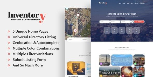 Inventory - Responsive Directory Geolocation & Listings HTML5 ...