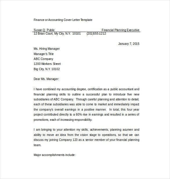 11+ Professional Cover Letter Templates – Free Sample, Example ...
