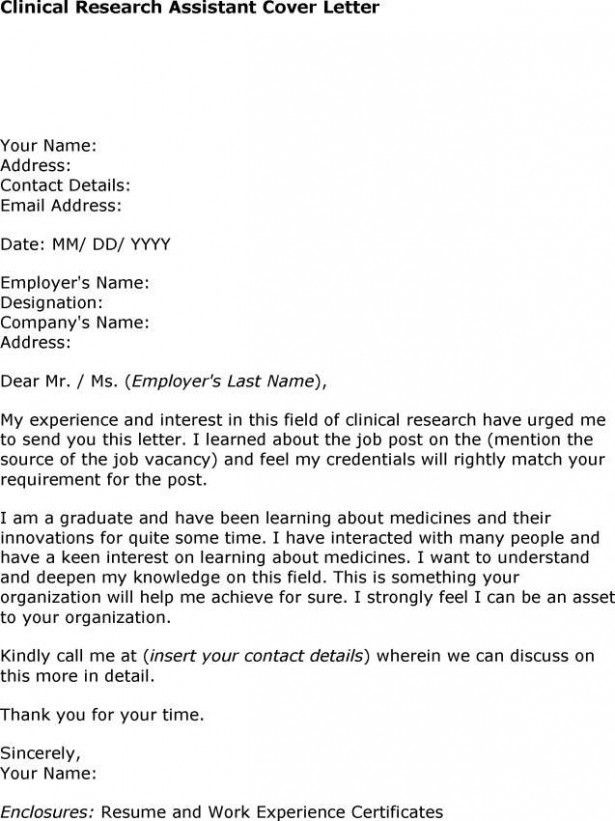 psychology research assistant cover letter