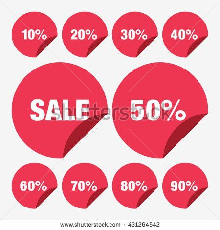 Set Template Yellow Sale Tag Vector Stock Vector 431297173 ...