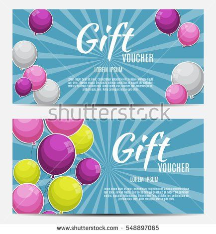 Gift Voucher Template Your Business Vector Stock Vector 548897065 ...