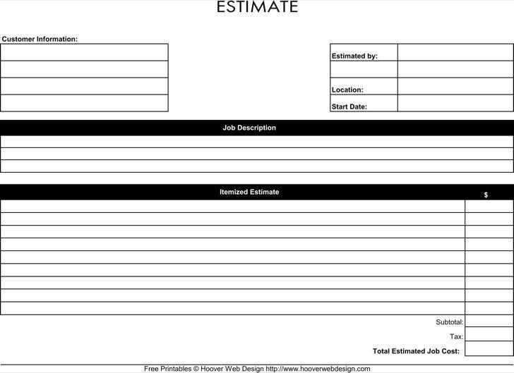 free estimate form - thebridgesummit.co