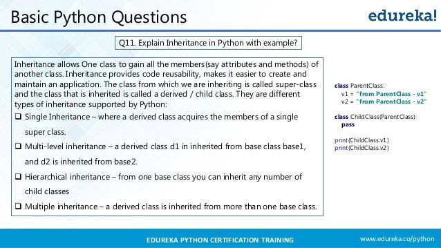 Python Interview Questions And Answers | Python Interview Preparation…