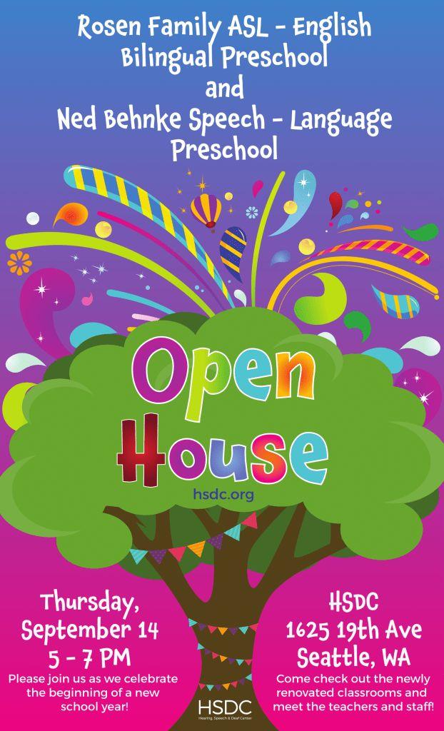 Preschool Open House | Hearing, Speech & Deaf Center