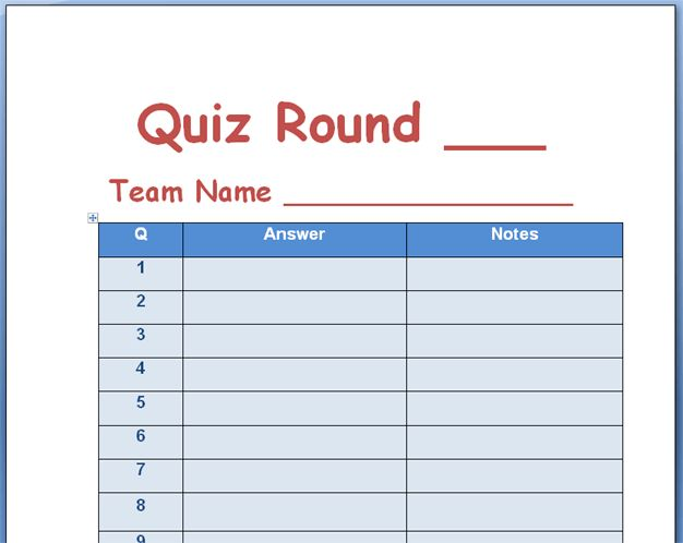21+ Free Quiz Template - Word Excel Formats