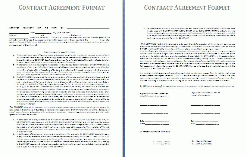 Blank Contract Template | Free Contract Templates