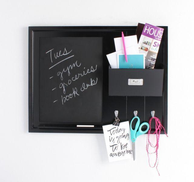 Mail Key Holder Wall Organizer Note Chalkboard Letter Shelf Pocket ...