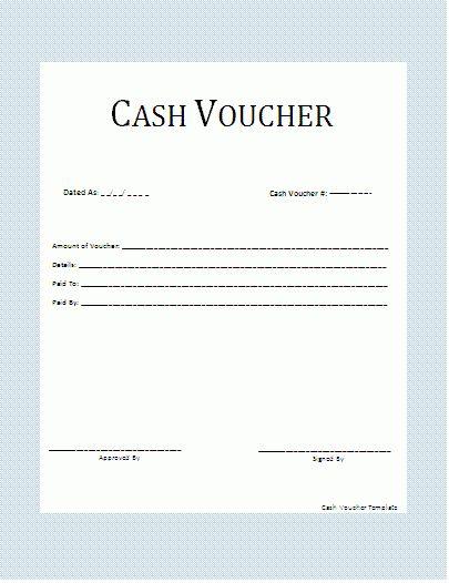 Cash Voucher Template | Wordtemplateshub.com