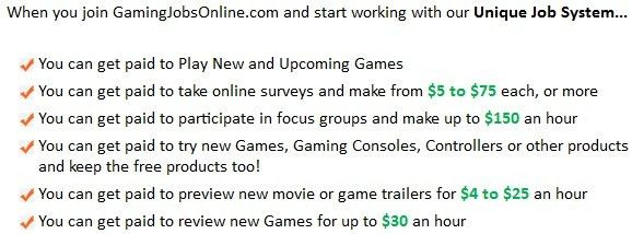 Gaming Jobs Online review - Legitimate video game testing jobs?
