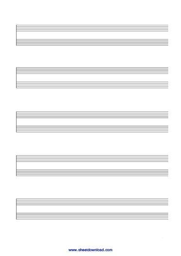 Blank Sheet Music Paper | Free Sheet Download