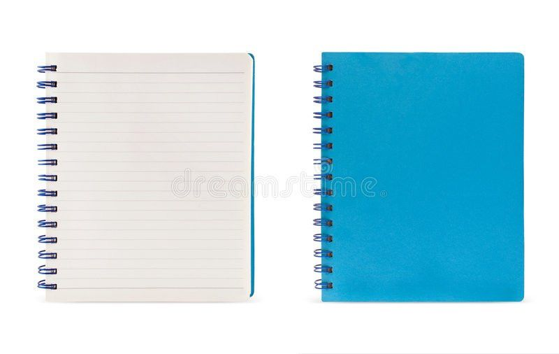 Lined Page And Blue Page (Clipping Path) Stock Image - Image: 9101491