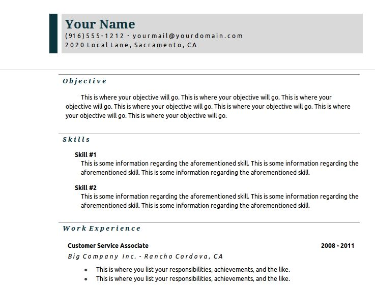 Resume Templates Google 22 Resume Templates For Google Docsresume ...