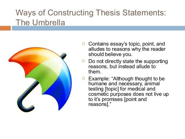 Essay Writing: Thesis statement