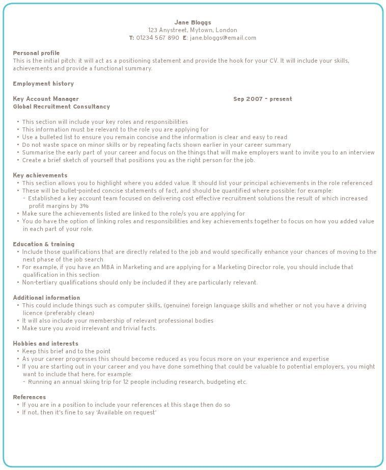 sample of a perfect resume a great resume good sample how to write ...