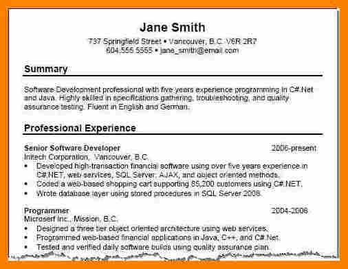Charming Resume Summary Examples 76 For Your Resume Template ...