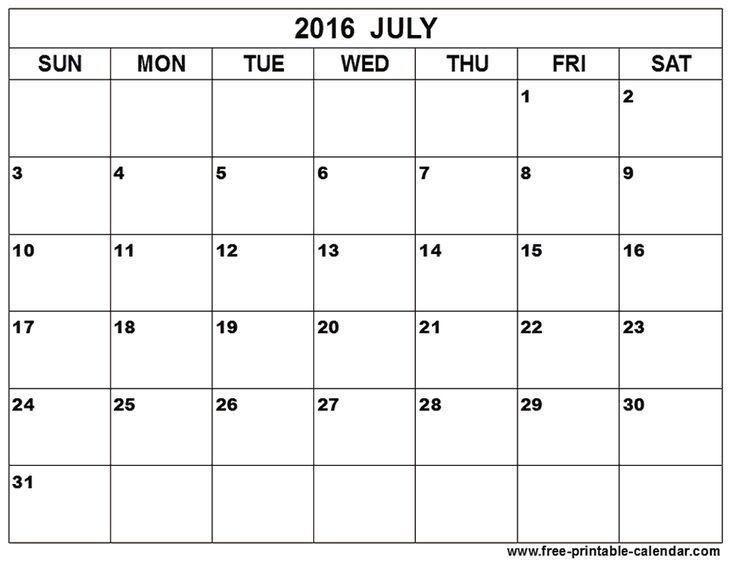 202 best July Calendar Printable Template images on Pinterest ...