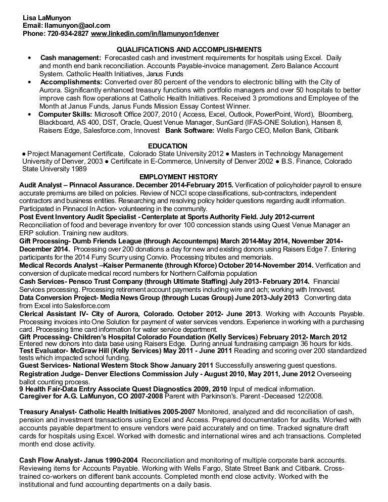 sample resume accounts payable wound care nurse resume personal ...