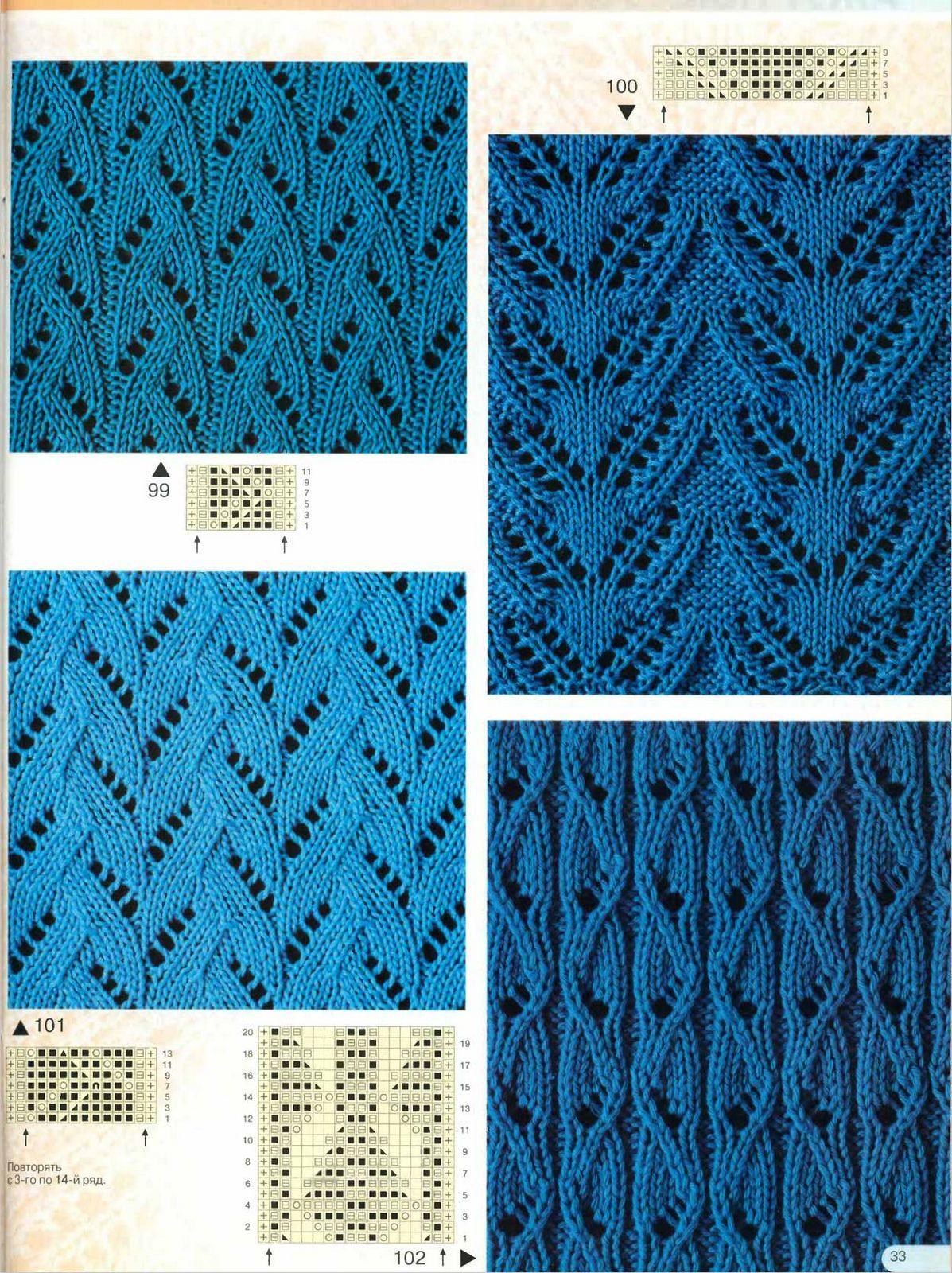 Узоры вязания спицами в фото