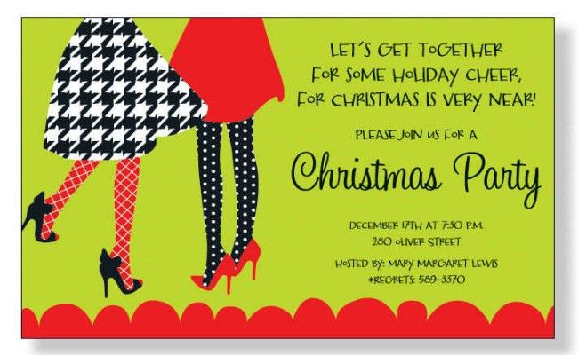 Christmas Party Invitation Ideas - Best Christmas Party ...