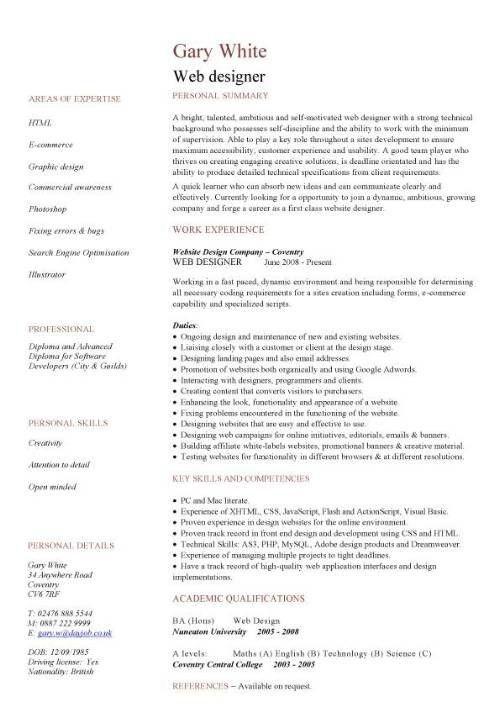 j2ee web development resume