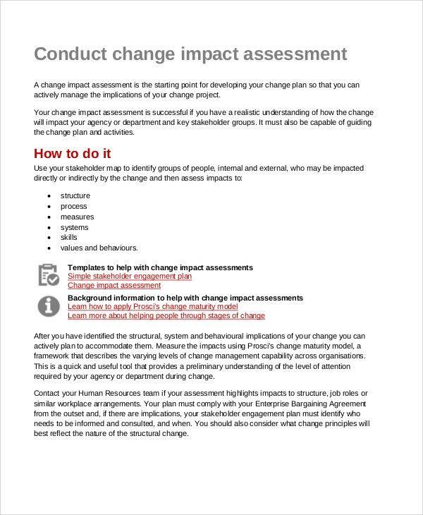 30+ Free Impact Assessment Templates | Free & Premium Templates