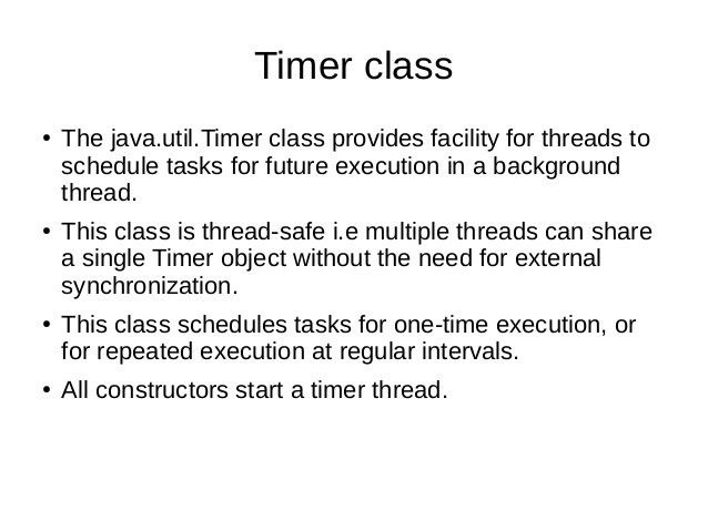 Timer class in java