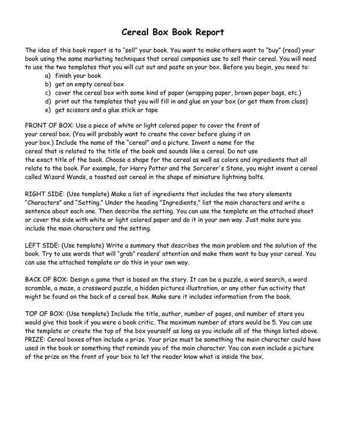 how to write a book report pdf