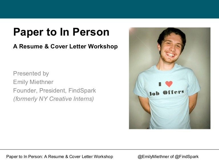 From Paper to in Person: A Resume and Cover Letter Workshop
