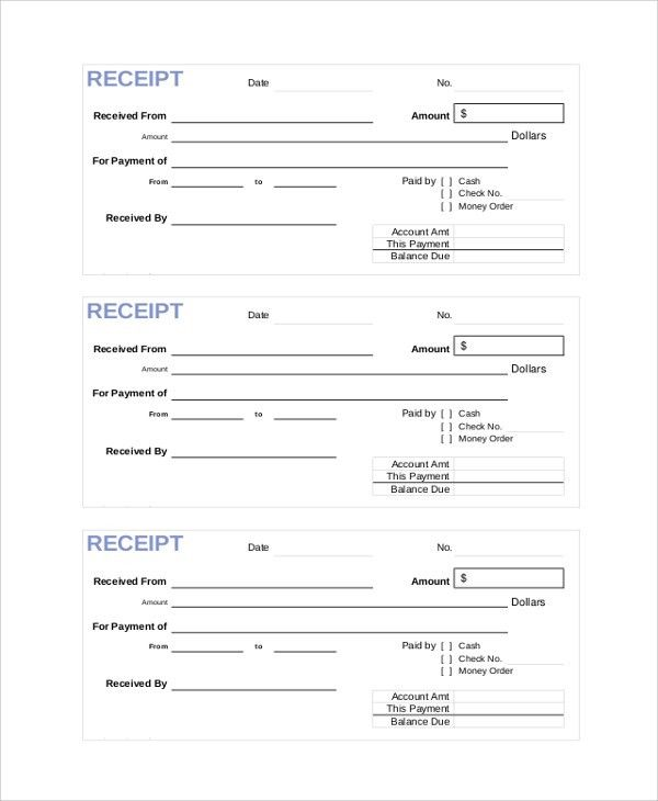 Sample Cash Receipt - 7+ Documents in PDF, Word