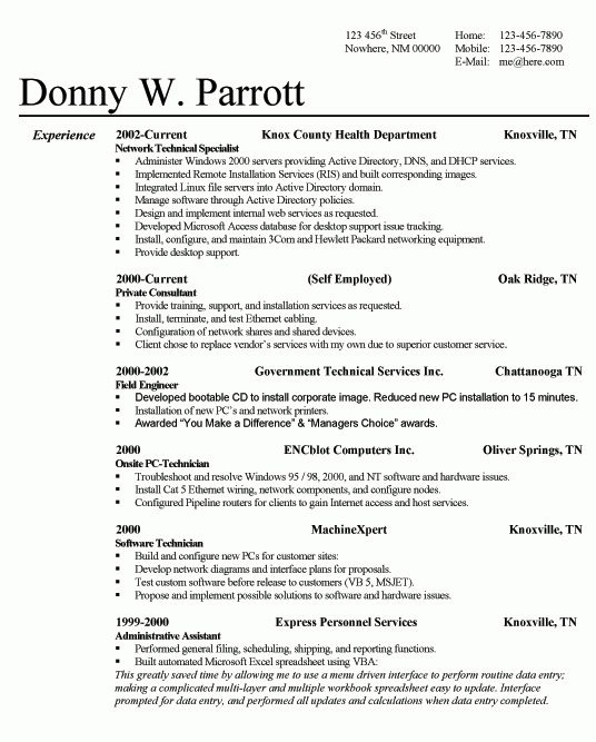 Most Successful Resume Template #766