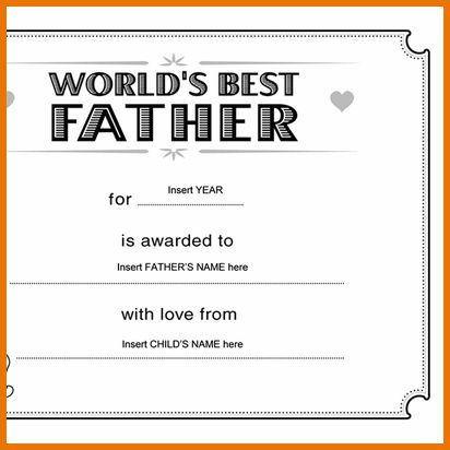 Microsoft Office Certificate Template.Best Father Award ...
