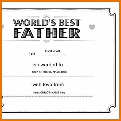 Microsoft Office Certificate Template.Best Father Award ...