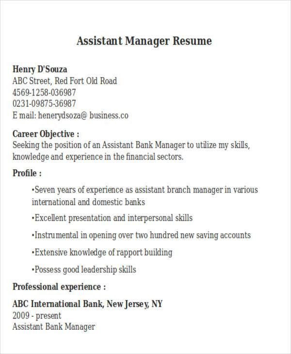 Retail Store Assistant Manager Resume Samples  JobHero