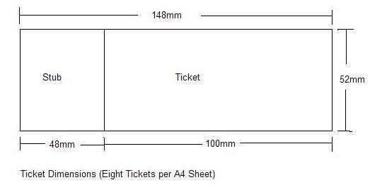 Ticket Maker: Ticket Size