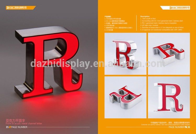 3d Spray Paint Color Stainless Steel And Vinyl Acrylic Outdoor Led ...