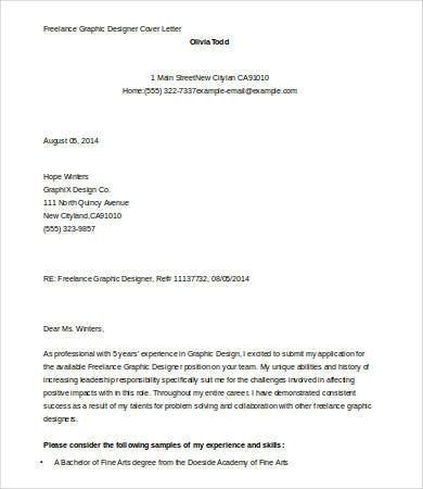 Epic Cover Letters For Graphic Designers 11 For Your Download ...