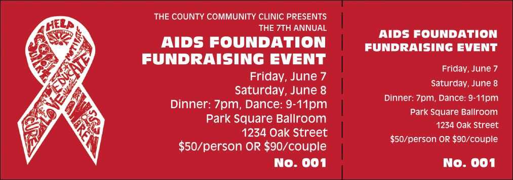 Fundraising Event Ticket