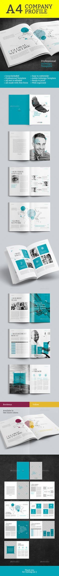 Company Profile Brochure 14 Pages A4 | Company profile, Brochures ...