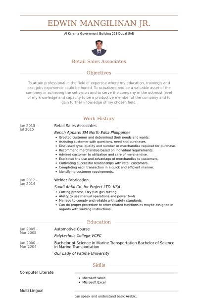 Sales Associates Resume Samples - VisualCV Resume Samples Database
