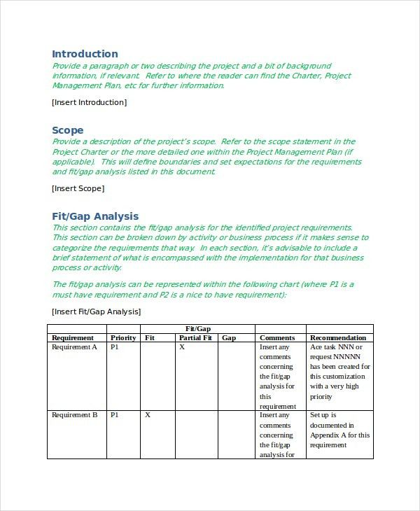 Gap Analysis Template - 9+ Free Word, Excel, PDF, Document ...