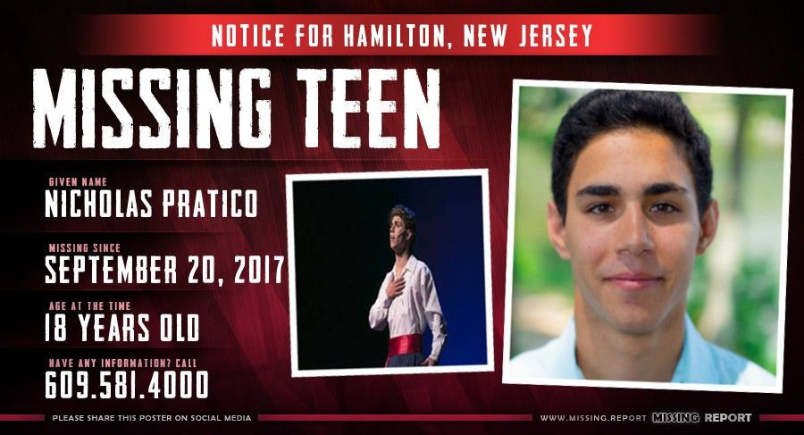 MISSING PERSON • Nicholas Pratico • Hamilton, New Jersey • 18 ...