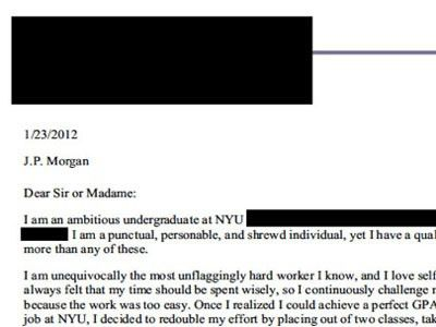 Here's The Full Summer Analyst Application Cover Letter That Went ...