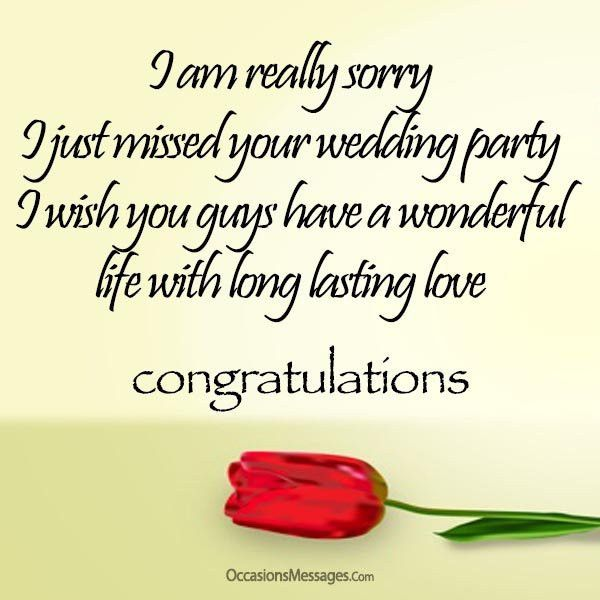 Belated Wedding Wishes and Messages - Occasions Messages