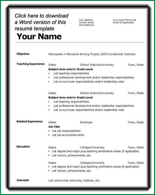 Cv Template Student First Job.STI Resume Template.jpg - thankyou ...