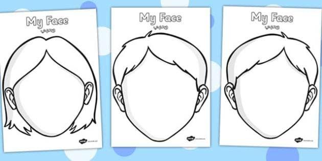 Blank Faces Templates Arabic Translation - arabic, blank faces