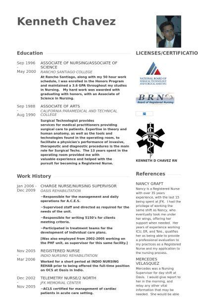 Charge Nurse Resume samples - VisualCV resume samples database