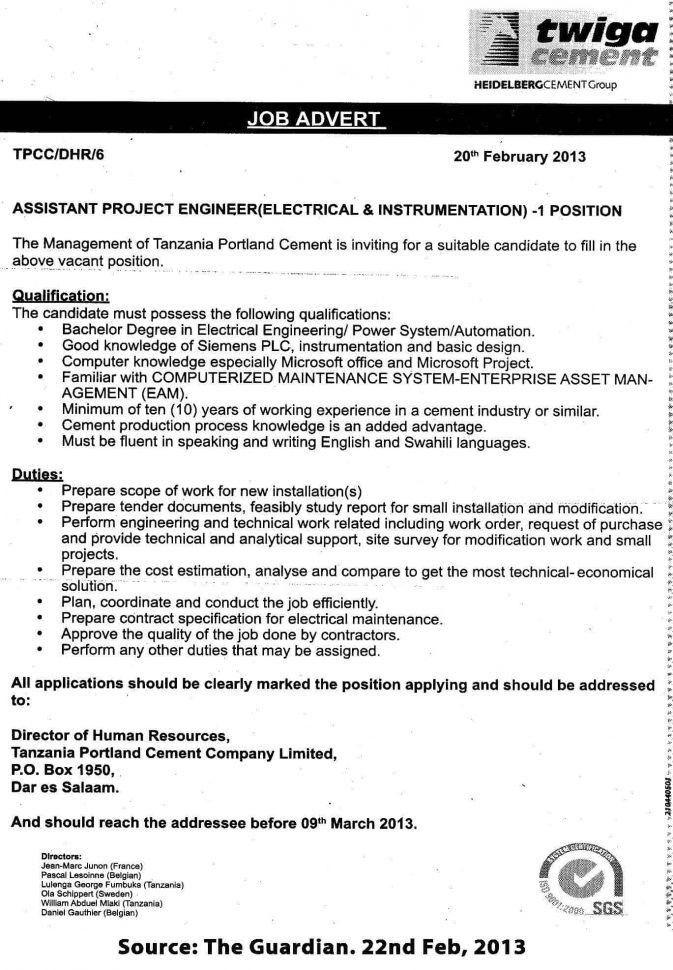 Senior Applications Engineer Job Description Applications Engineer ...
