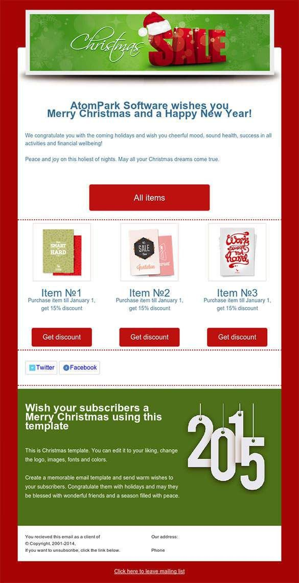 38+ Christmas Email Newsletter Templates - Free PSD, EPS, AI, HTML ...