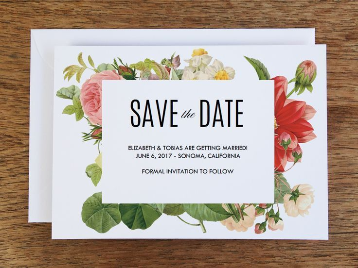 77 best Printable Wedding Save the Date Cards images on Pinterest ...