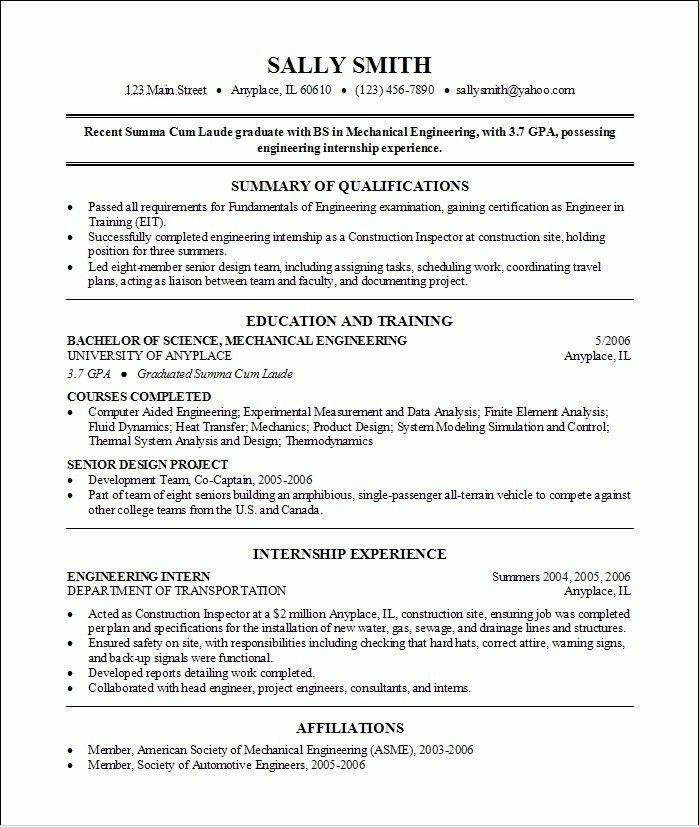 Sample Resume College - Best Resume Collection